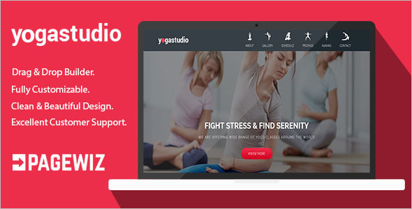 Yoga Pagewiz LandingPage Template