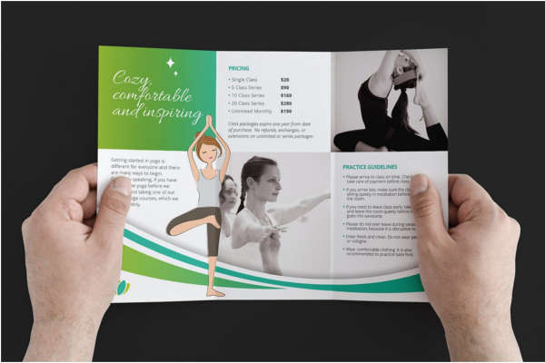 14 yoga brochure templates free pdf design examples for Yoga brochure templates