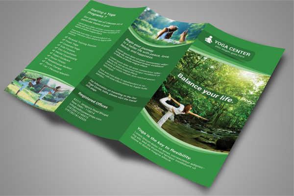 Yoga Tri-Fold Brochure Template