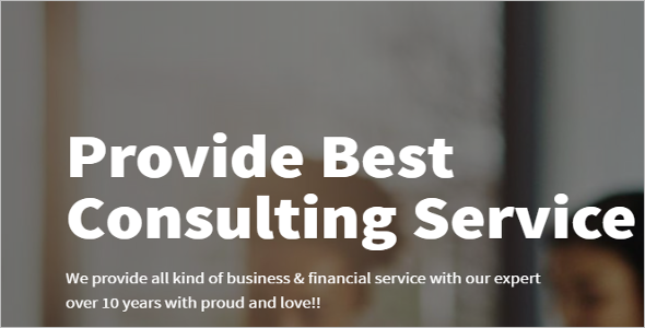 consulting business Web Slider Design Theme