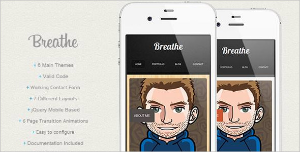 jQuery Mobile Based Template