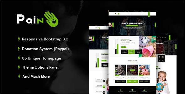 parallax Non Profit WordPress Theme
