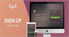 25+ Signup Landing Page Templates
