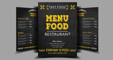 Menu Flyer Templates