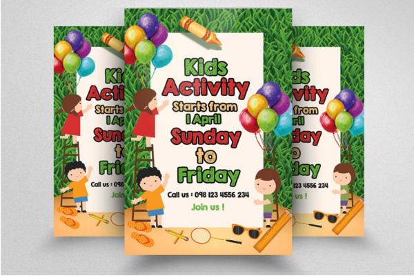 Advertisement Kids Activity flyer