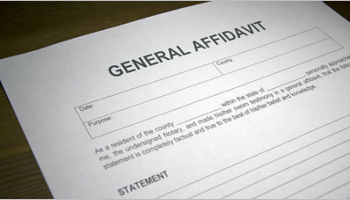 Affidavit Form Templates