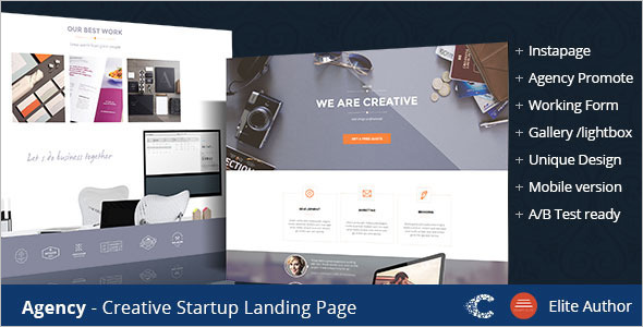 Agency Creative Instapage one Page Template
