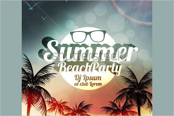 Amazing Beach Party PSD