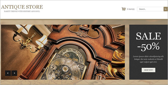 Antique Store OsCommerce Template