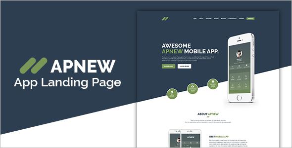 App Landing Design Joomla Template