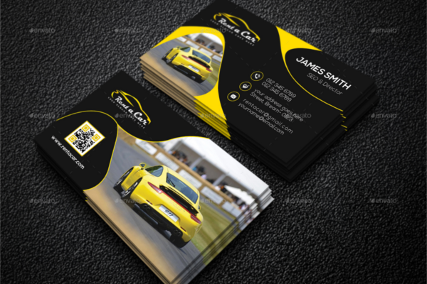 Attractive Auto Showroom Business Card