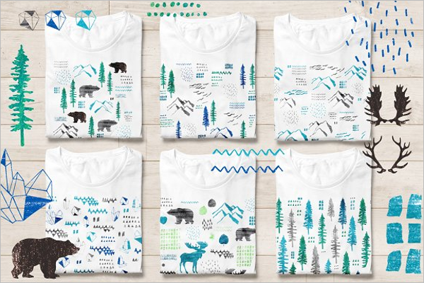 Awesome Vacation T-Shirt Design Template