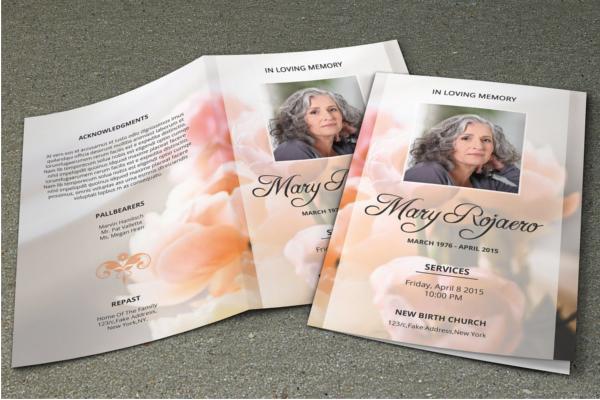 Bifold Funeral Program Design