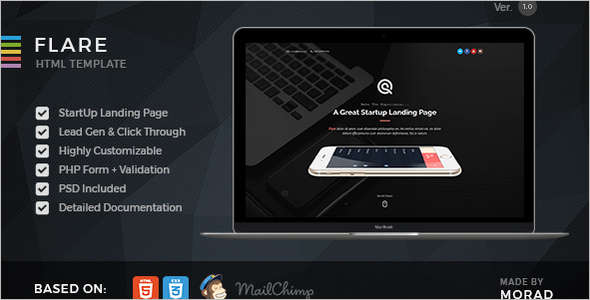 Bootstrap Startup Landing Page Template