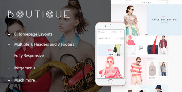 Boutique Shopify Website Template