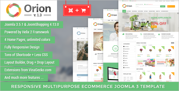 Business E-commerce Joomla Template