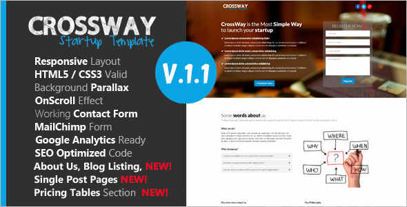 Business Startup Landing Page Template