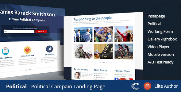 Campaign One Page Instapage Template