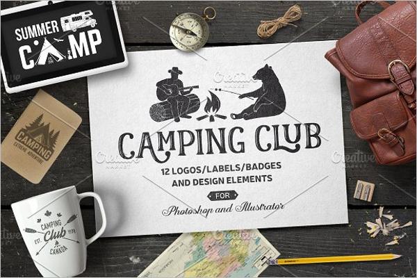 Camping Club Printed T-Shirt Design