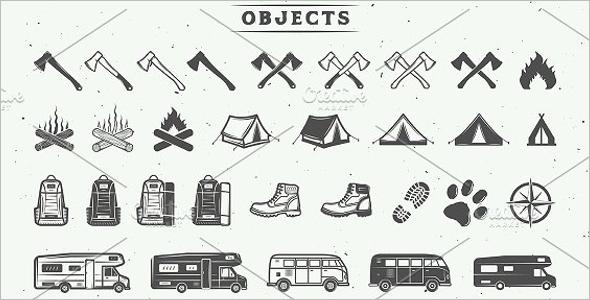 Camping outdoor logo creation kit