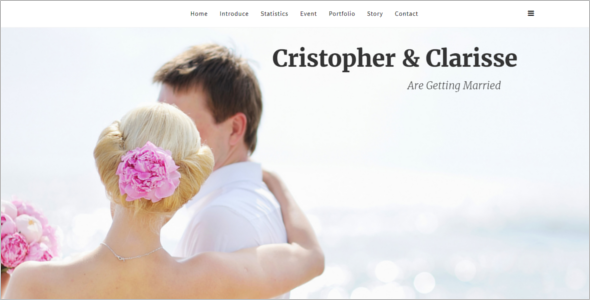 Classy Wedding Joomla Template