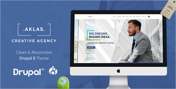 Clean & Creative Drupal 8 Theme