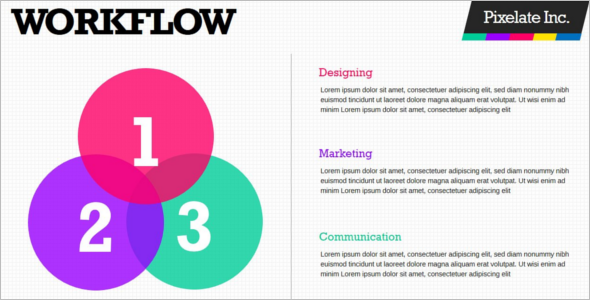 Colorful Pixelate PowerPoint