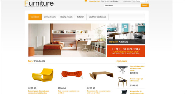 Comfort Furnishing OsCommerce Template