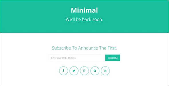 Coming Soon CSS 3 Template