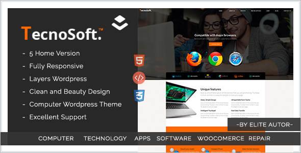 Computer echnology WordPress Theme