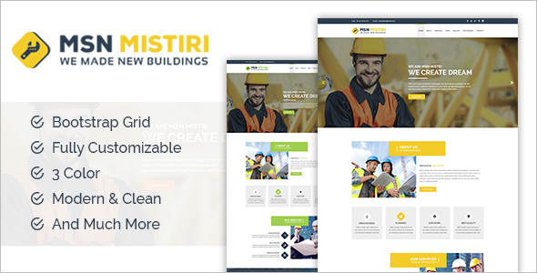 Construction Joomla Design Template