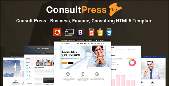 Consultancy Business HTML Website Template