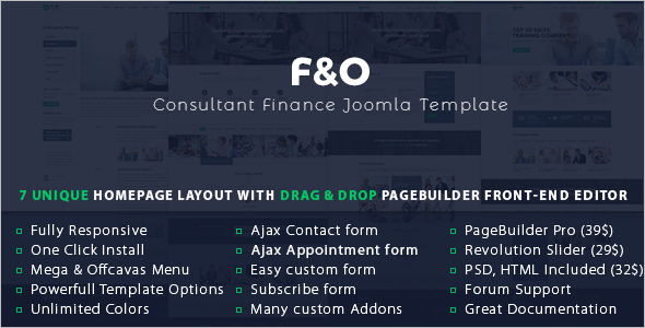 Consultant Finance Joomla Template