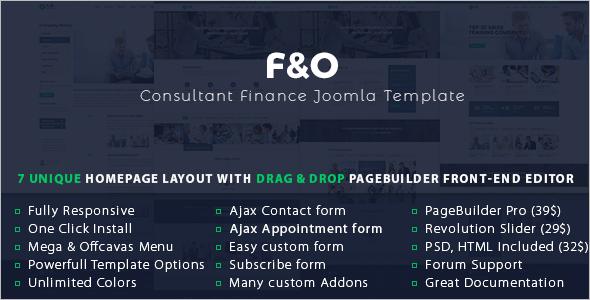 Consultant Finance Joomla Template
