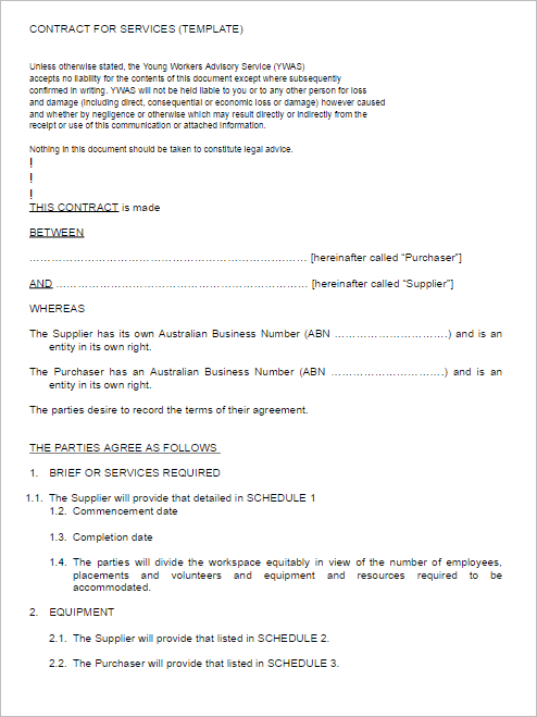 Contract Services Agreement Template