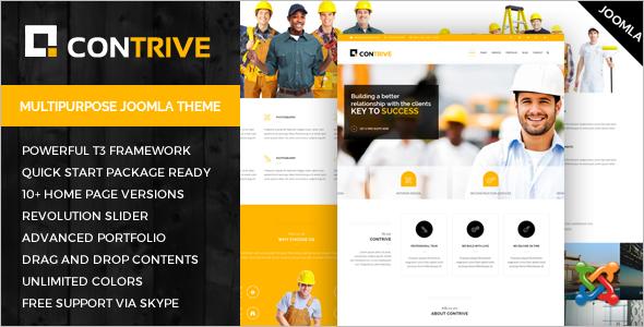 Contrive Construction Business Theme
