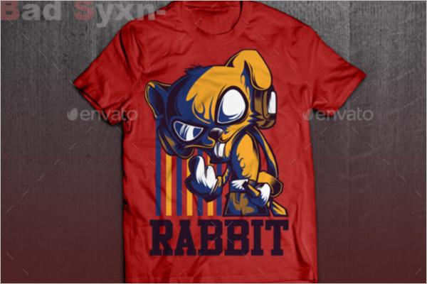 Cool Rabbit T-Shirt Design