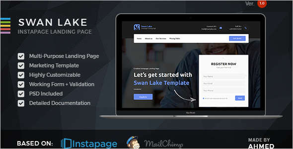 Corporate Marketing Instapage Template