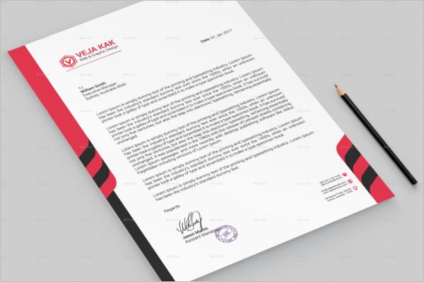 Corporate Office Letterhead Design