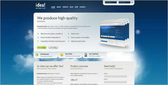 Corporate Shop WordPress Template