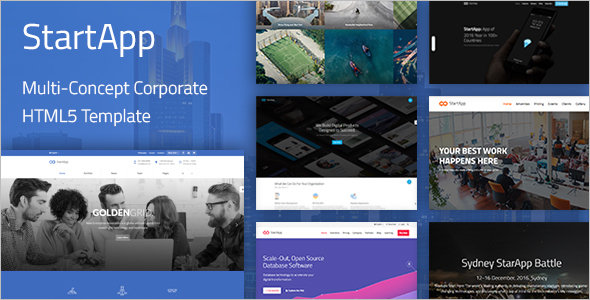 Corporate Startup Website