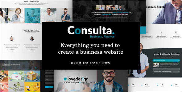 Corporate Trader WordPress Template