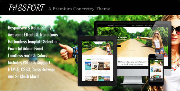 Creative Concrete5 Template