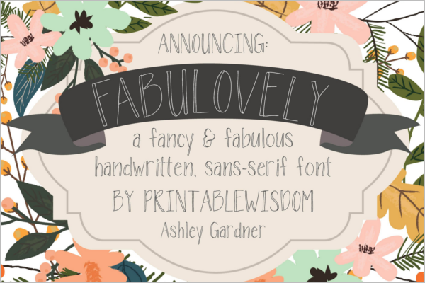 Creative Fancy Font Design