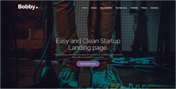 Creative Landing Page Drupal 8 Theme
