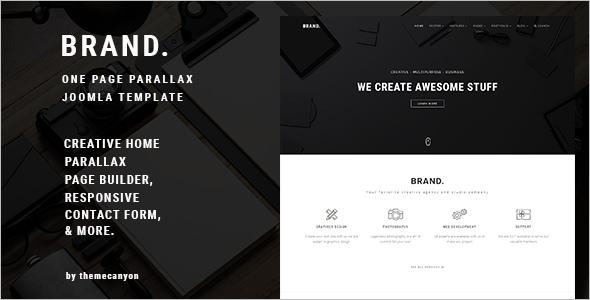 Creative One Page Parallax Joomla Template