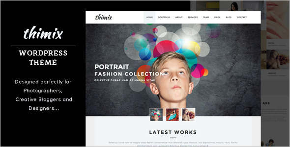 Creative Photo Studio WordPress Theme
