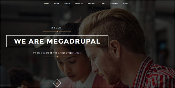 Creative Responsive One Page Drupal Theme