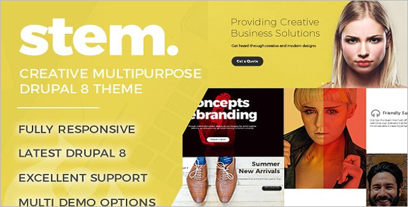 Creative Stem Multipurpose Drupal 8 Theme