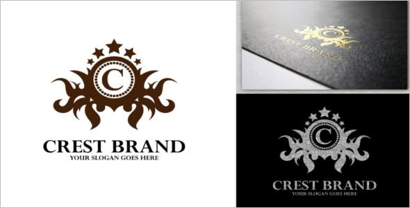 Crest Brand Logo Design Template